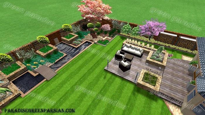 محوطه2 طراحی فضای سبز