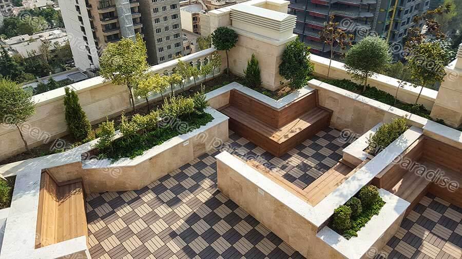 roof garden1 روف گاردن