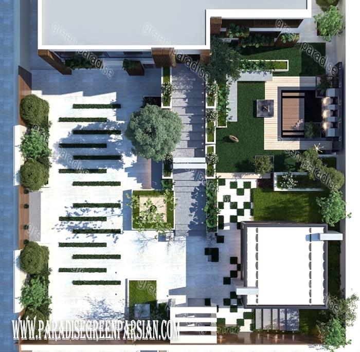 design roof garden طراحی روف گاردن