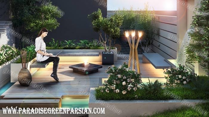design roof garden1 طراحی روف گاردن