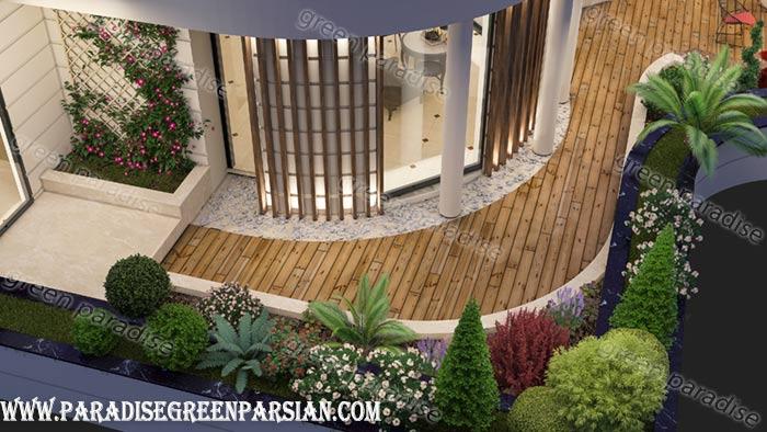 design roof garden2 طراحی روف گاردن