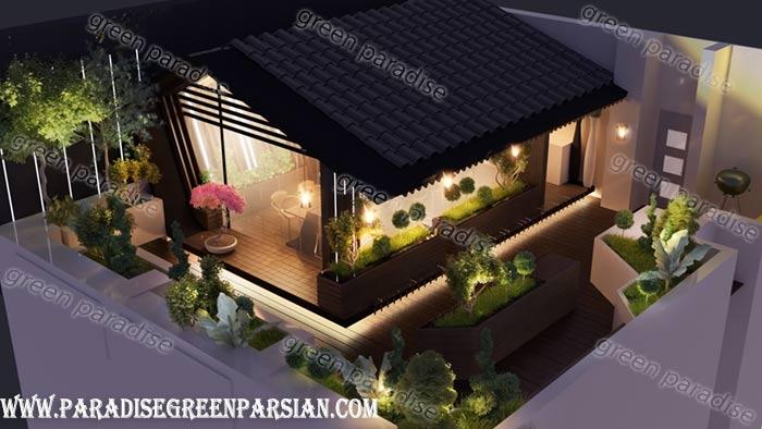 design roof garden3 طراحی روف گاردن