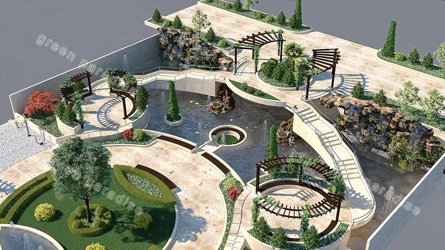 landscape 5 طراحی محوطه