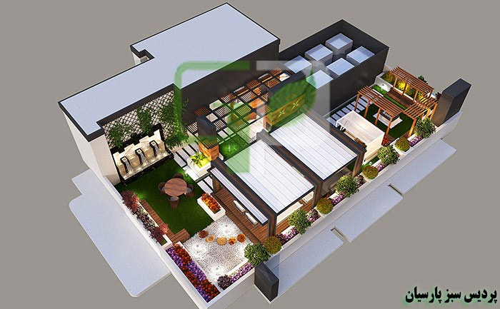 roof garden design روف گاردن