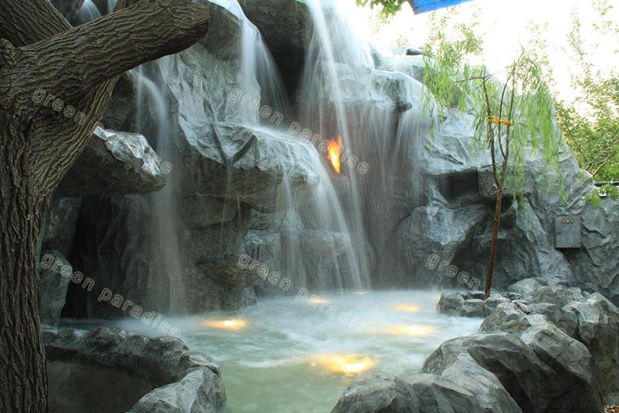 waterfall 3 آبنما صخره ای رستوران آبی