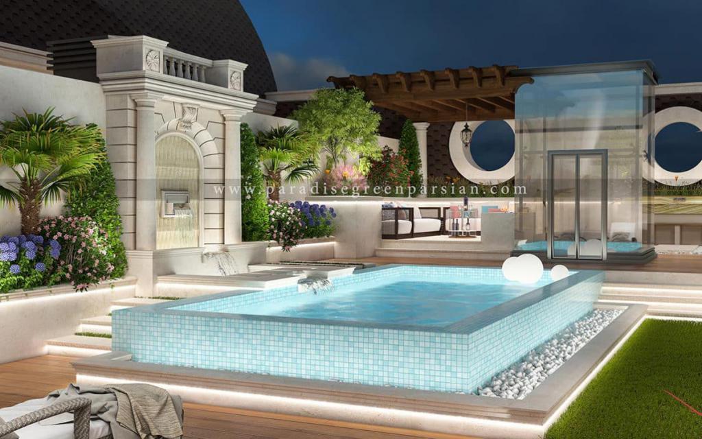 design roof garden روف گاردن