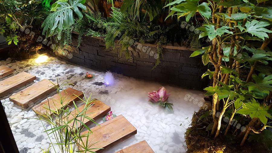 fountain 3 آبنما در پاسیو