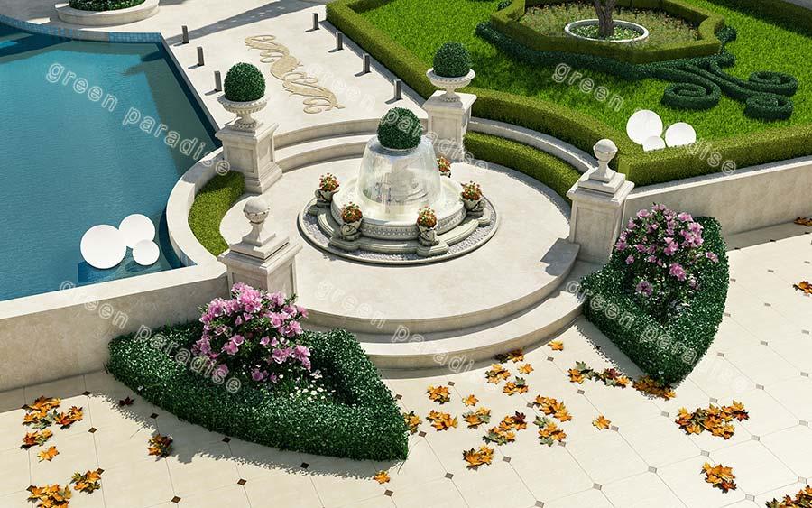 fountain 8 آبنمای محوطه ویلای امیر دشت