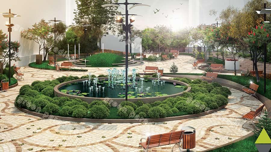 landscape 15 طراحی محوطه مجتمع مسکونی زیتون
