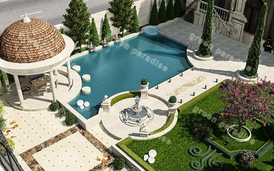 landscape 4 طراحی محوطه ویلای امیردشت