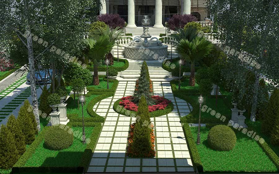 landscape 5 طراحی محوطه برج باغ قیطریه