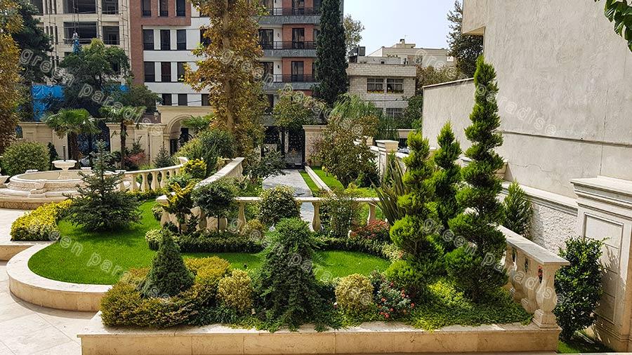 landscape 7 اجرای محوطه برج باغ قیطریه