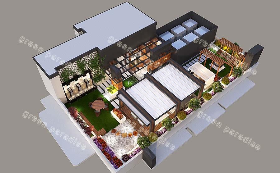 roofgarden 20 روف گاردن شیخ بهایی