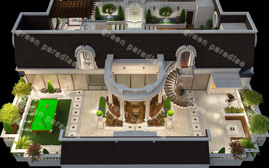 roofgarden 9 روف گاردن برج مسکونی تجاری رولکس تاور (نیاوران)