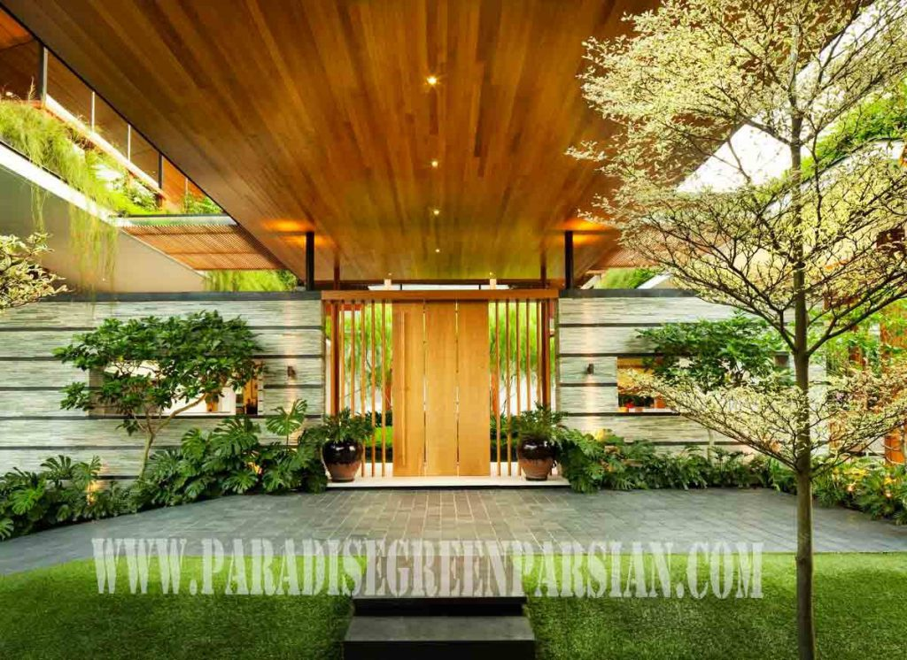 roof garden and landscape 1 1024x746 خانه ای با محوطه سازی پویا و روف گاردن