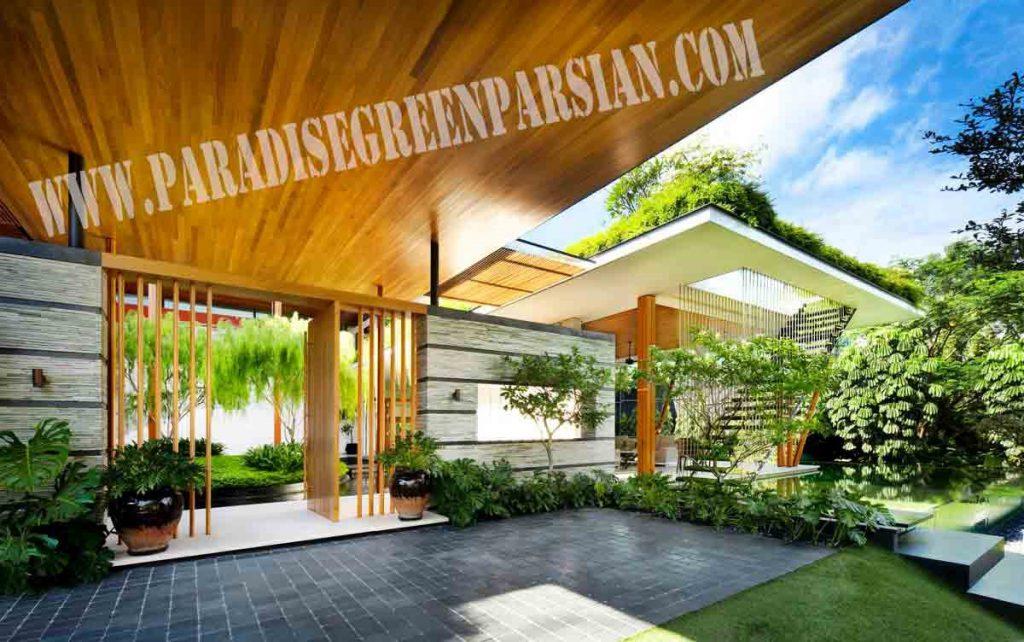 roof garden and landscape 3 1024x642 خانه ای با محوطه سازی پویا و روف گاردن