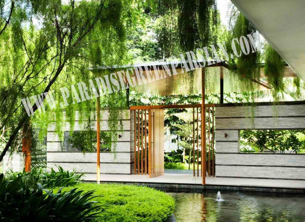 roof garden and landscape 4 1024x745 خانه ای با محوطه سازی پویا و روف گاردن