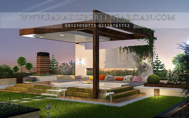 roof graden designing 2 روف گاردن